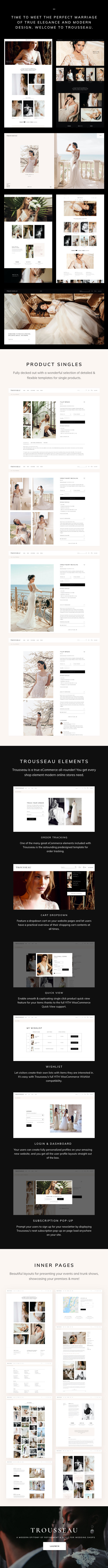 Trousseau - Bridal Shop WordPress Theme - 1